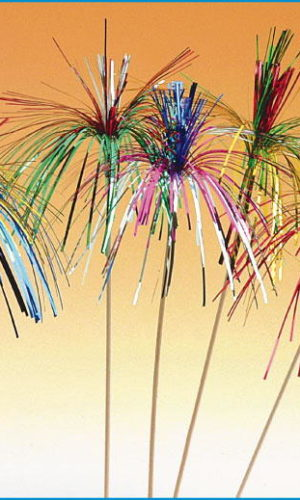 Single Colour Sparkling Palms (20cms) (100)