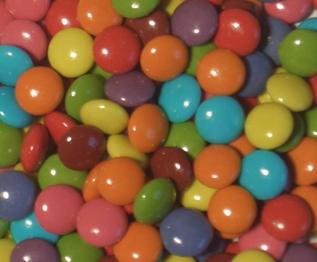 Mini Choc Coloured Beans (Re-Seal Tub)