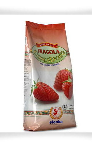 162 Conca D'oro 500 Strawberry 1.5kg Quick Ready Mix for Granitas & Sorbets
