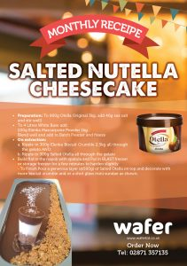 Monthly recipe Salted Nutella Cheesecake